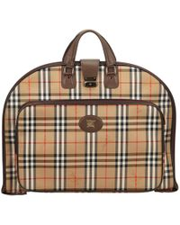 Burberry - Pre-owned Cloth Travel Bag - Lyst