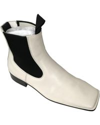 Céline - Leather Ankle Boots - Lyst