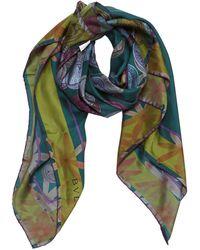 BVLGARI - Green Silk Scarves - Lyst
