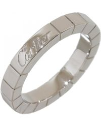 Cartier - Lanières Silver White Gold Ring - Lyst