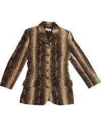Valentino - Vintage Brown Velvet Jacket - Lyst
