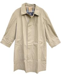 Burberry - Pre-owned Beige Polyester Coat - Lyst