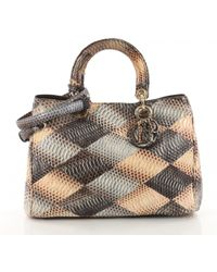 Dior - Pre-owned Issimo Multicolour Python Handbags - Lyst
