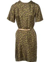 Louis Vuitton - Pre-owned Silk Mini Dress - Lyst