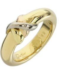 Cartier - Pre-owned Vintage Trinity Other Yellow Gold Ring - Lyst