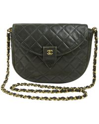 21694af174db Chanel - Vintage Green Leather Handbag - Lyst