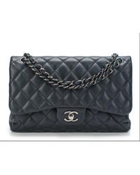 Chanel - Timeless/classique Navy Leather - Lyst