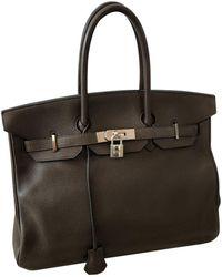 Hermès - Birkin 35 Brown Leather Handbag - Lyst