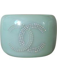 Chanel - Green Plastic Bracelet - Lyst