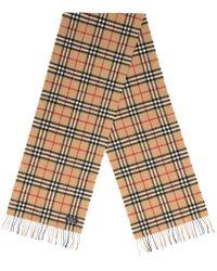 Burberry - Wool Scarf - Lyst
