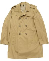 Dior - Beige Cotton Coat - Lyst