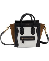Céline - Nano Luggage Leather Handbag - Lyst