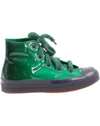 JW Anderson - Green Patent Leather Trainers - Lyst