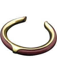 Hermès - Vintage Kyoto Brown Leather Bracelets - Lyst