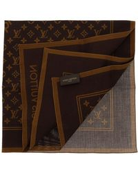 Louis Vuitton - Pre-owned Brown Cotton Scarves - Lyst