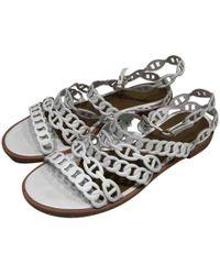 Hermès - Nude Leather Sandal - Lyst