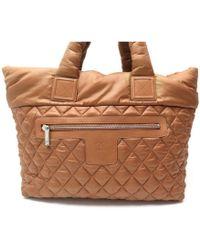 Chanel - Coco Cocoon Brown Synthetic Handbag - Lyst