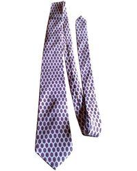 Lanvin - Pre-owned Vintage Camel Silk Ties - Lyst