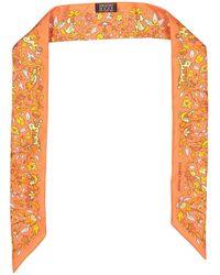 Hermès - Twilly Orange Silk - Lyst
