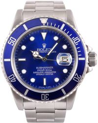 Rolex - Pre-owned Vintage Submariner Blue Steel Watches - Lyst