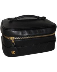 d11123ec046dab Chanel - Pre-owned Leather Vanity Case - Lyst