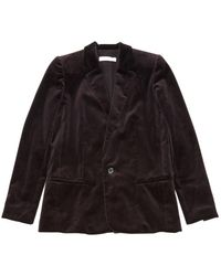 Chloé - Purple Velvet Jacket - Lyst