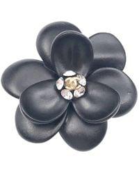 Chanel - Pre-owned Vintage Black Metal Pins   Brooches - Lyst 32eeb5222cd