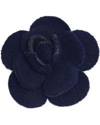 Chanel - Camélia Blue Metal Pins & Brooches - Lyst