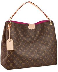 Louis Vuitton - Pre-owned Graceful Brown Leather Handbags - Lyst