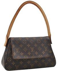 Louis Vuitton - Vintage Looping Brown Cloth Handbag - Lyst