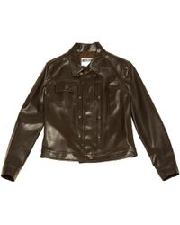 Moschino - Brown Polyester Jacket - Lyst