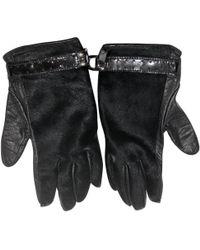 Céline - Black Leather Gloves - Lyst