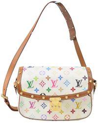 Louis Vuitton - Sologne White Leather Handbag - Lyst