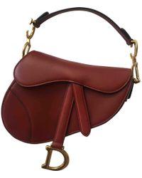 Lyst - Dior Mini Saddle Bag Navy in Metallic 117e7ac15f40c