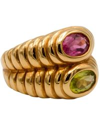 BVLGARI - Serpenti Yellow Gold Ring - Lyst