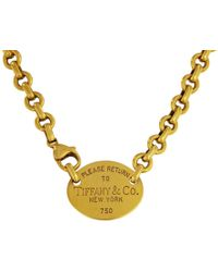 Tiffany & Co. - Pre-owned Return To Tiffany Yellow Yellow Gold Necklaces - Lyst