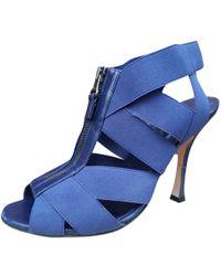 7d42e44e69e Lyst - Sergio Rossi Puzzle in Blue