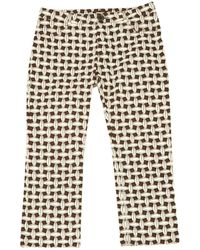 Louis Vuitton - Pre-owned Other Cotton Trousers - Lyst
