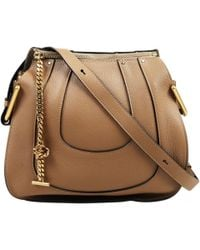 8168f018d4 Chloé - Pre-owned Hayley Brown Leather Handbags - Lyst