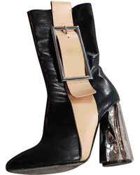 Acne Studios - Black Leather Ankle Boot - Lyst