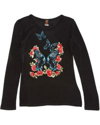 Jean Paul Gaultier - Black Viscose Top - Lyst