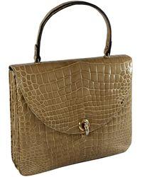 Loewe - Vintage Beige Crocodile Handbag - Lyst