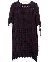 Chloé - Black Silk Dress - Lyst