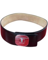 Longchamp - Patent Leather Belt - Lyst