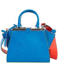 Fendi - 3jours Blue Leather - Lyst