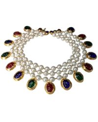 Chanel - Vintage Other Metal Necklace - Lyst