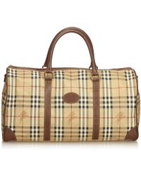Burberry - Pre-owned Vintage Brown Cloth Travel Bags - Lyst 83f08dbc94