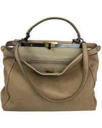 435f1e6b27b5 Fendi Micro Peekaboo Mink-Fur Cross-Body Bag in Brown - Lyst