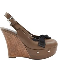 31b23843943 Marni - Pre-owned Brown Leather Heels - Lyst
