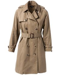 A.P.C. - Beige Cotton Coat - Lyst